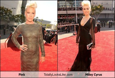 Totally Looks Like: Pink Totally Looks Like Miley Cyrus