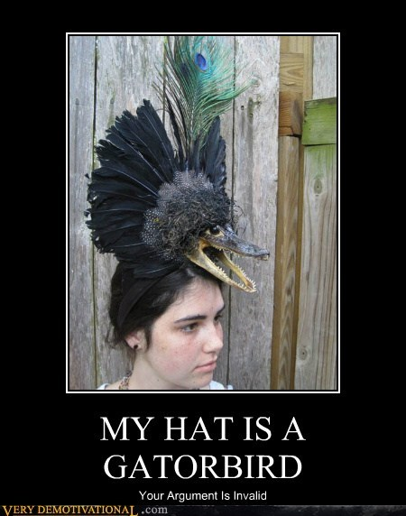 MY HAT IS A GATORBIRD