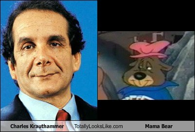 Charles Krauthammer Totally Looks Like Mama Bear