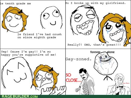 Rage Comics: Gay-Zoned