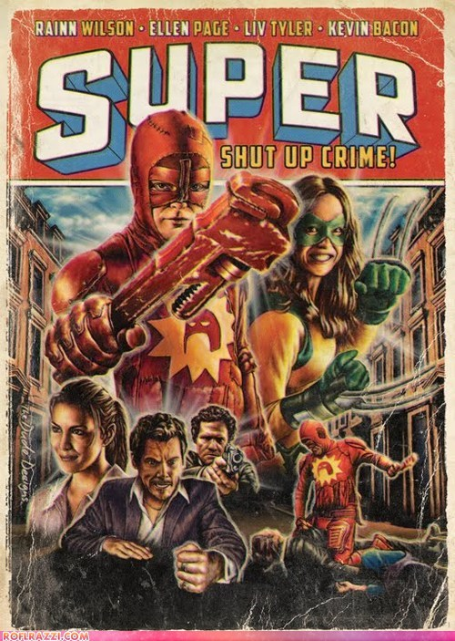 "Vintage Comic Book Poster: ""Super"""
