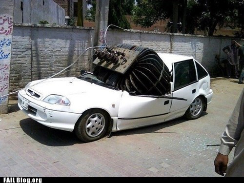 accident,car,crash,falling,power line,transformer