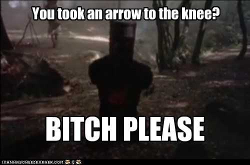 Then Again, It WAS Only a Flesh Wound...