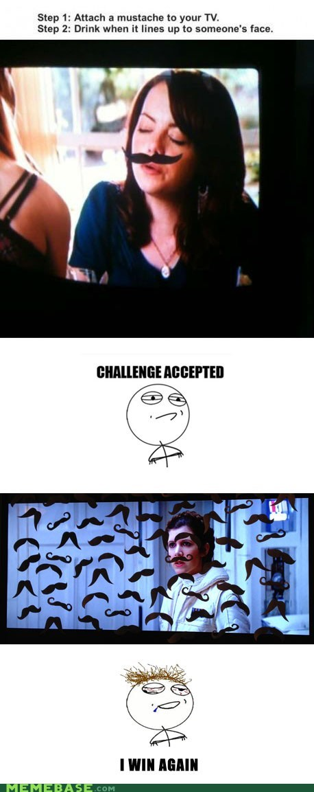 face,i win,mustache,Princess Leia,TV