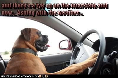 and there's a tye up on the interstate and now... Ashley with the weather...
