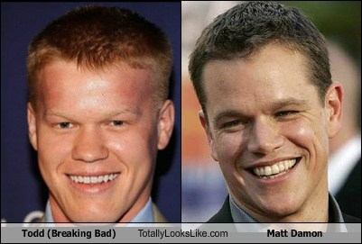 Totally Looks Like: Jesse Plemmons (Todd, Breaking Bad) Totally Looks Like Matt Damon