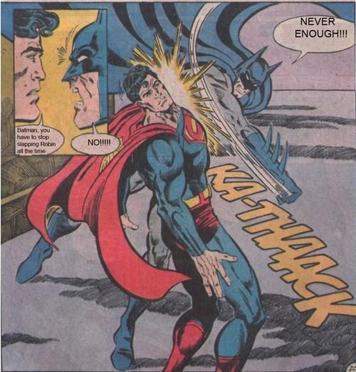 batman,robin,slap,superman
