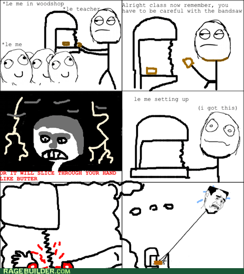Rage Comics: How to Deliver a Safety Lesson