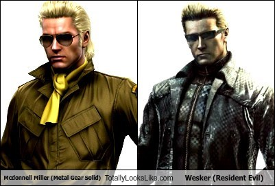 Mcdonnell Miller (Metal Gear Solid) Totally Looks Like Wesker (Resident Evil)