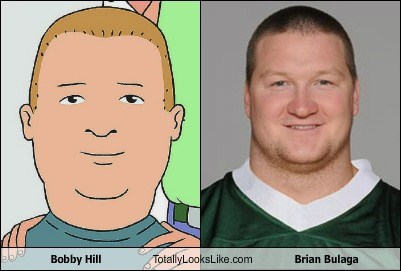 Bobby Hill (King of the Hill) Totally Looks Like Brian Bulaga