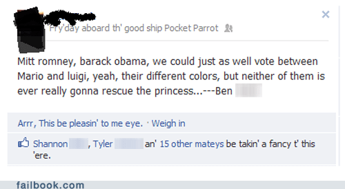 Failbook: The Princess is in Another White House!