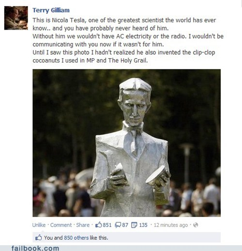 Failbook: Monty Python and the Holy Coil