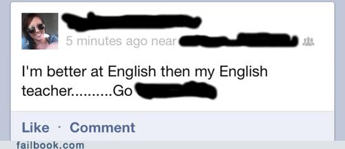 english teacher,grammar,grammar matters,than vs then,then vs than