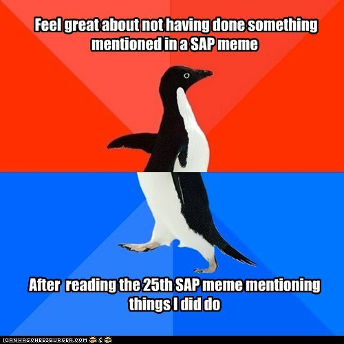 Socially Awesome Awkward Penguin: Not a Great Ratio