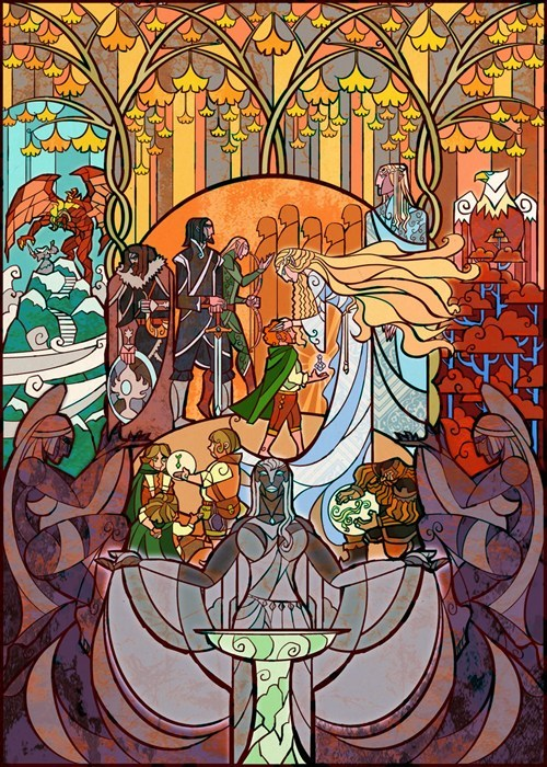 artwork,Lord of the Rings,omg,stained glass