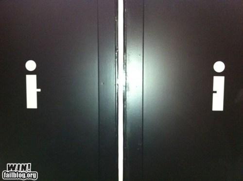 Bathroom Signs WIN