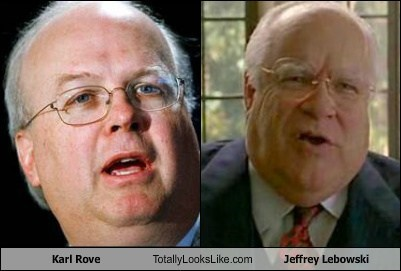 Karl Rove Totally Looks Like David Huddleston (Jeffrey Lebowski)