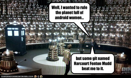 doctor who,Matt Smith,the doctor,arthur darvill,androids,women,rule,planet,daleks,rory williams,amy pond,karen gillan,harcourt fenton mudd,Star Trek