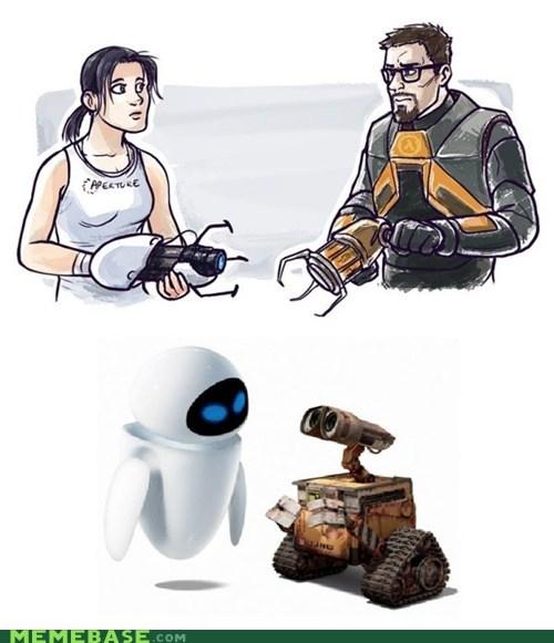 cute,disney,dress,movies even,pixar,valve,video games,wall.e