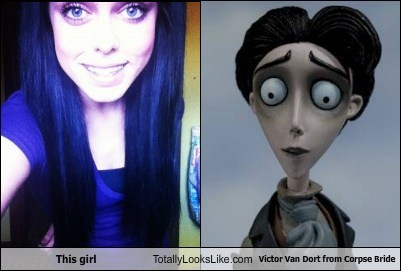 This girl  Totally Looks Like Victor Van Dort from Corpse Bride