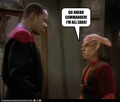 ferengi,captain sisko,avery brooks,Star Trek,Deep Space Nine,ears,commander,pun