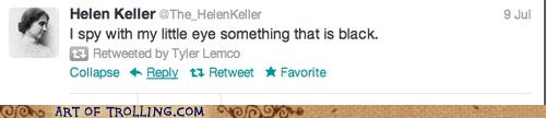 black,blind,Hellen Keller,twitter