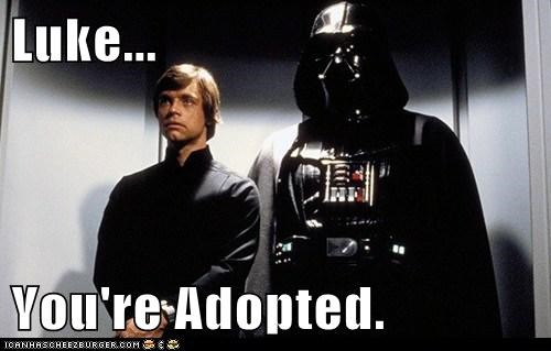 adopted,darth vader,elevator ride,luke skywalker,Mark Hamill,star wars