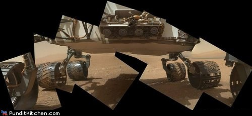 Curiosity's Self-Shots Combined