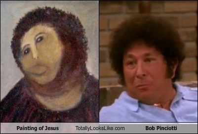 Painting of Jesus Totally Looks Like Don Stark (Bob Pinciotti from That 70s Show)
