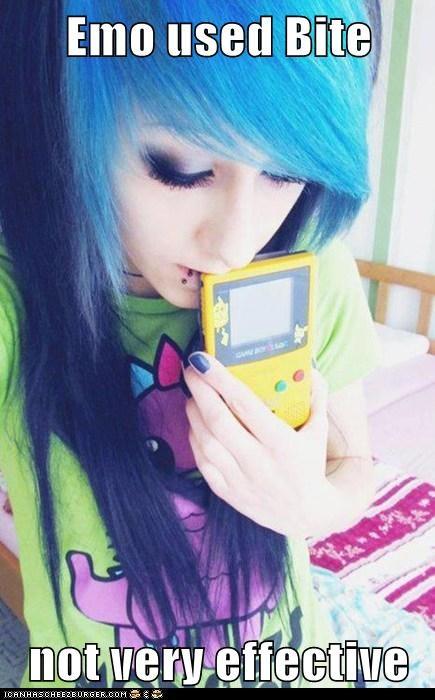 food,emo,Pokémon,gamer girls,gameboy