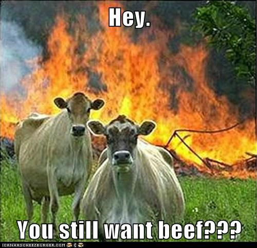 Hey.  You still want beef???