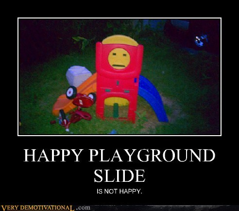 face,not happy,Pareidolia,playground,slide