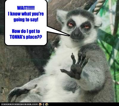 Directions to TONNA's place.