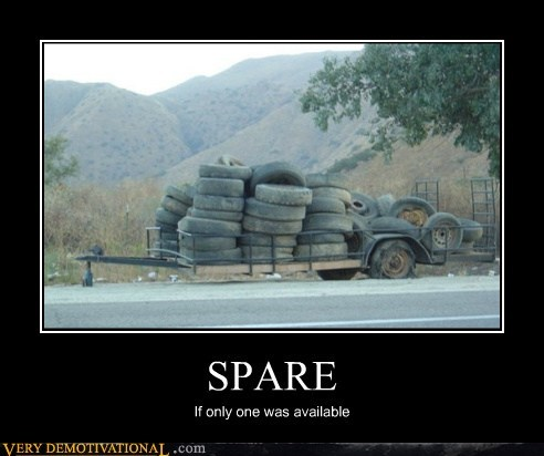 broke down,spare,tire,wtf
