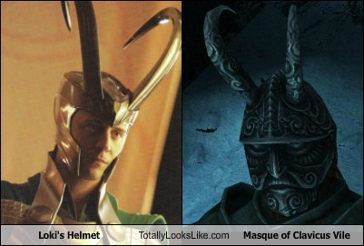 Loki's Helmet Totally Looks Like Masque of Clavicus Vile