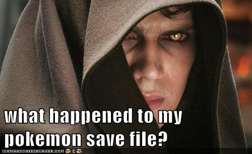 what happened to my pokemon save file?