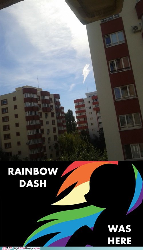 Rainbow Dash Was Here