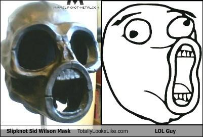 Slipknot Sid Wilson Mask Totally Looks Like LOL Guy Meme
