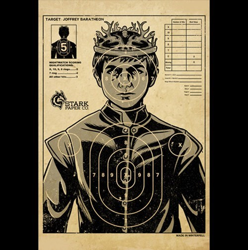 Joffrey Target Practice of the Day