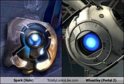 Spark (Halo) Totally Looks Like Wheatley (Portal 2)