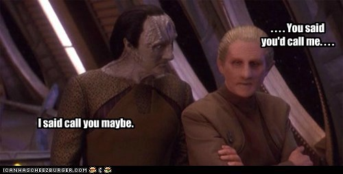 gul dukat,odo,call me maybe,you said,maybe,fighting,relationship,Star Trek,Deep Space Nine