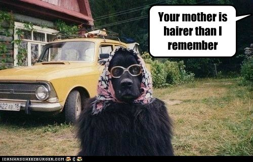 Your mother is hairer than I remember