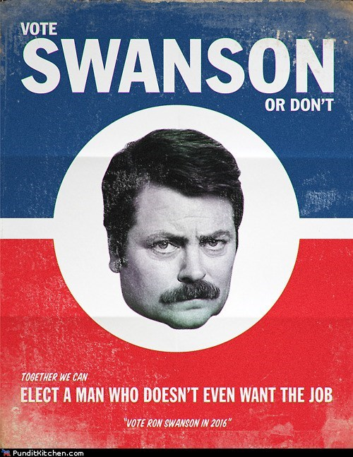 campaign,election,Nick Offerman,parks and rec,ron swanson,voting