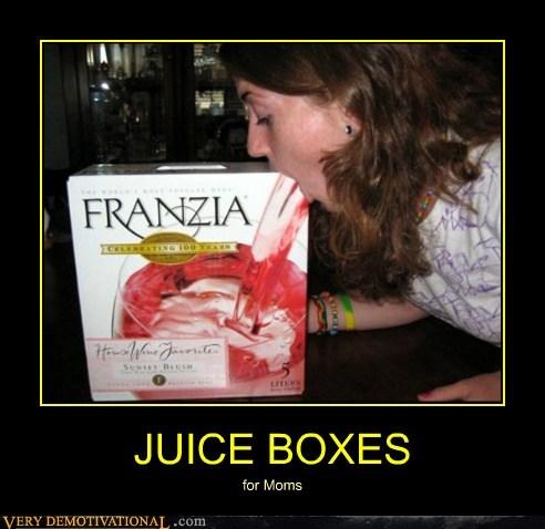 box of wine,franzia,juice box,mom