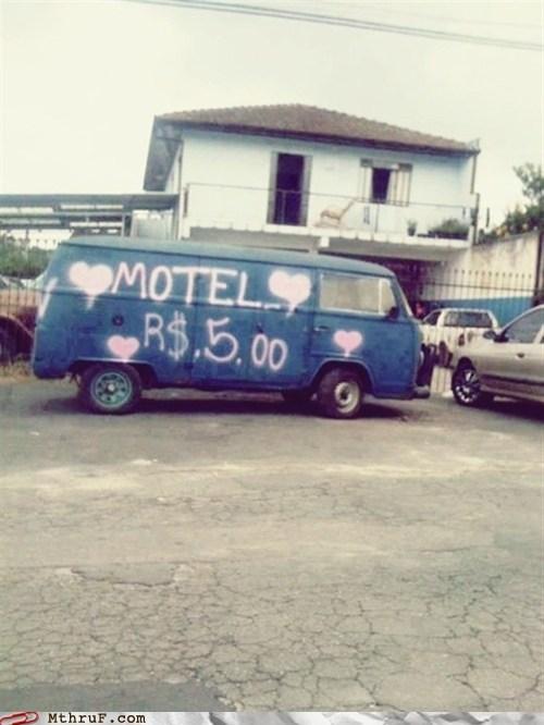motel,sketchy,van
