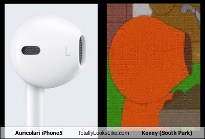Totally Looks Like: Auricolari iPhone5 Totally Looks Like Kenny (South Park)