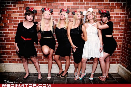 bridesmaids,disney,ears,minnie mouse