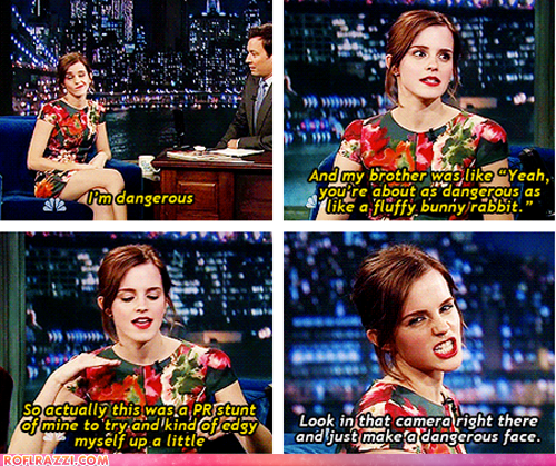 Emma Watson: Danger is Her Middle Name!