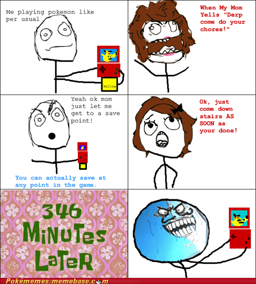 chores,kids,mom,rage comic,save point