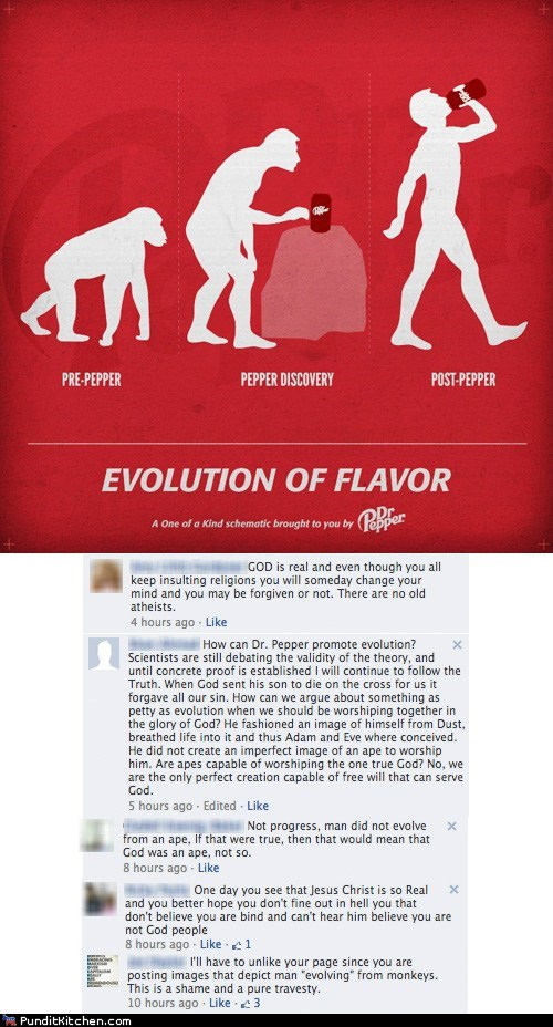 creationism,debate,dr pepper,evolution,soda